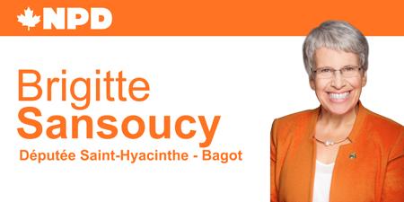 Brigitte Sansoucy, députée fédérale
